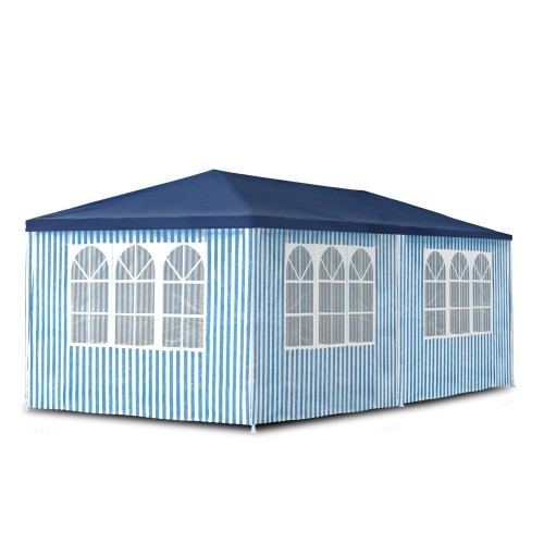 Gartenpavillon 3 x 6 m,  Pavillon, Pavillion, Partyzelt, Festzelt, Gartenzelt, mit 6 Seitenwänden 110G PE