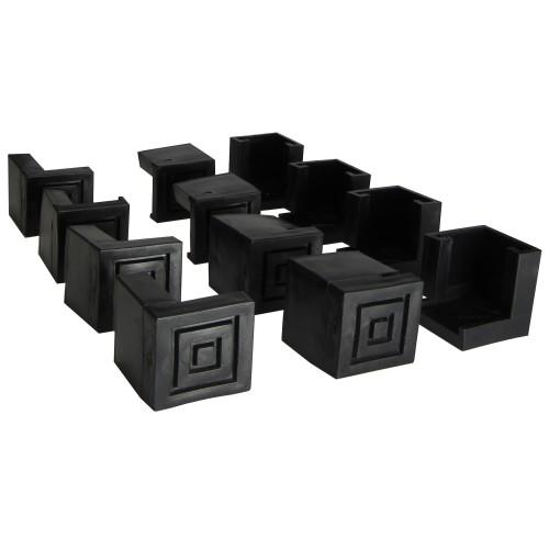 12 tlg. Bodenschoner Schutzkappe für Bierzeltgarnituren Festzeltgarnituren Material Kunststoff