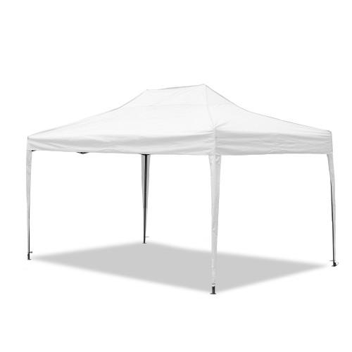 Gartenpavillon, wasserdicht, 3 x 4,5 m, Falt-Pavillon Mallorca, Material Oxford 420D innen beschichtet, weiß