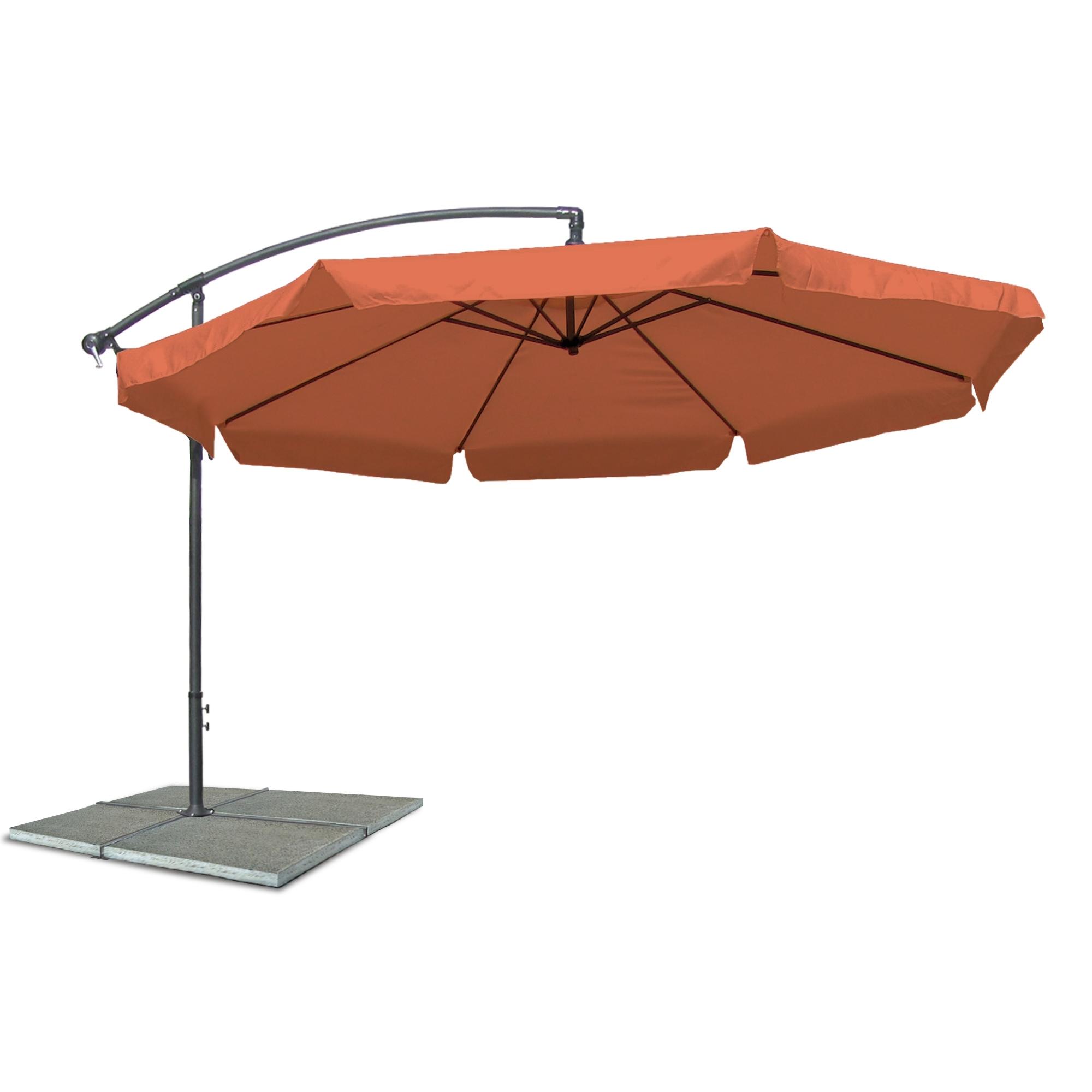 ampelschirm sonnenschirm mit 300 cm durchmesser in terracotta material polyester 160g. Black Bedroom Furniture Sets. Home Design Ideas