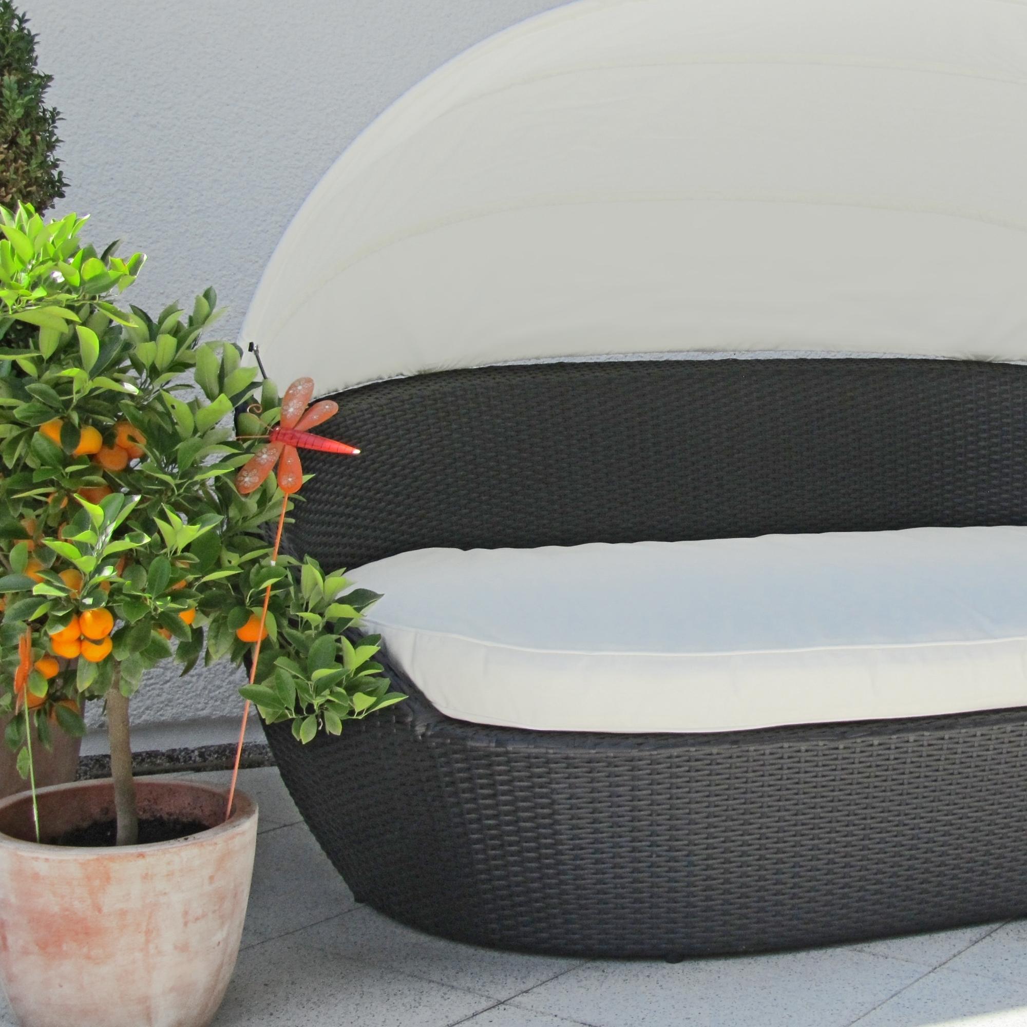 Gartenmobel Laufenburg Deutschland : Sonneninsel, Polyrattan Garten Lounge, ChillOut Sofa mit Baldachin