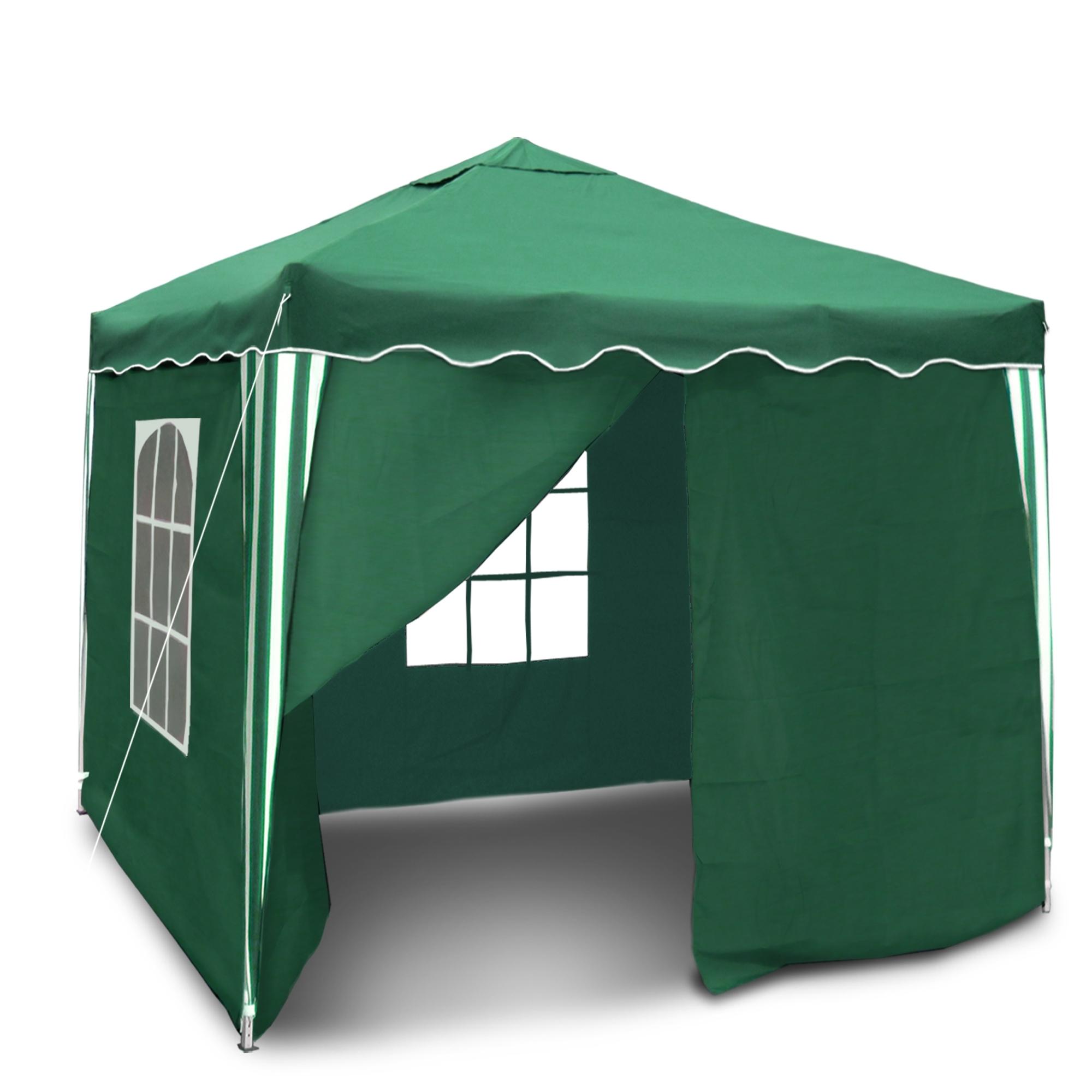 barnum de jardin imperm able vert pliable 3 x 3 m mat riau oxford 200d avec rev tement. Black Bedroom Furniture Sets. Home Design Ideas