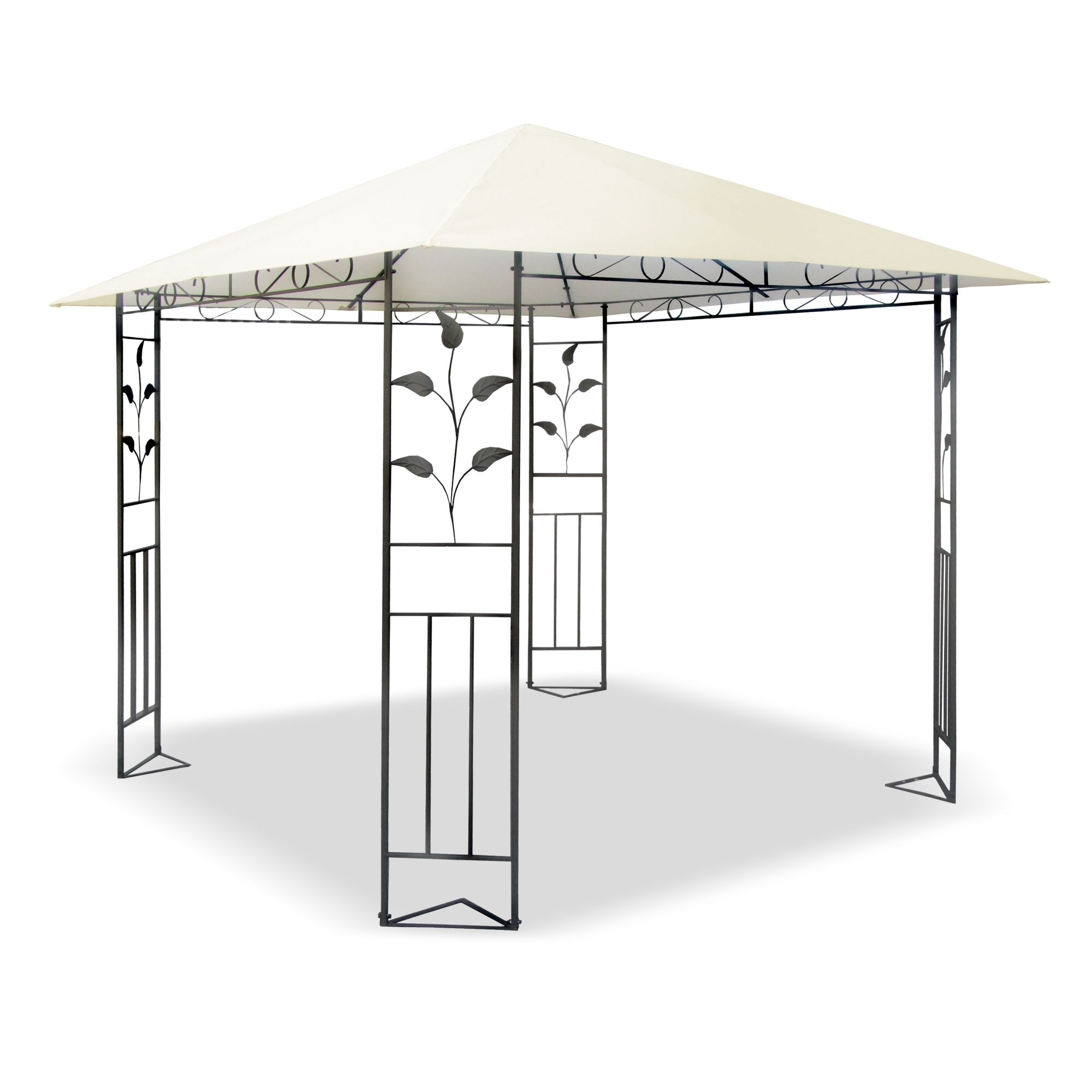 metall pavillon 3 x 3 m mit schmiedeeisen ornamenten. Black Bedroom Furniture Sets. Home Design Ideas