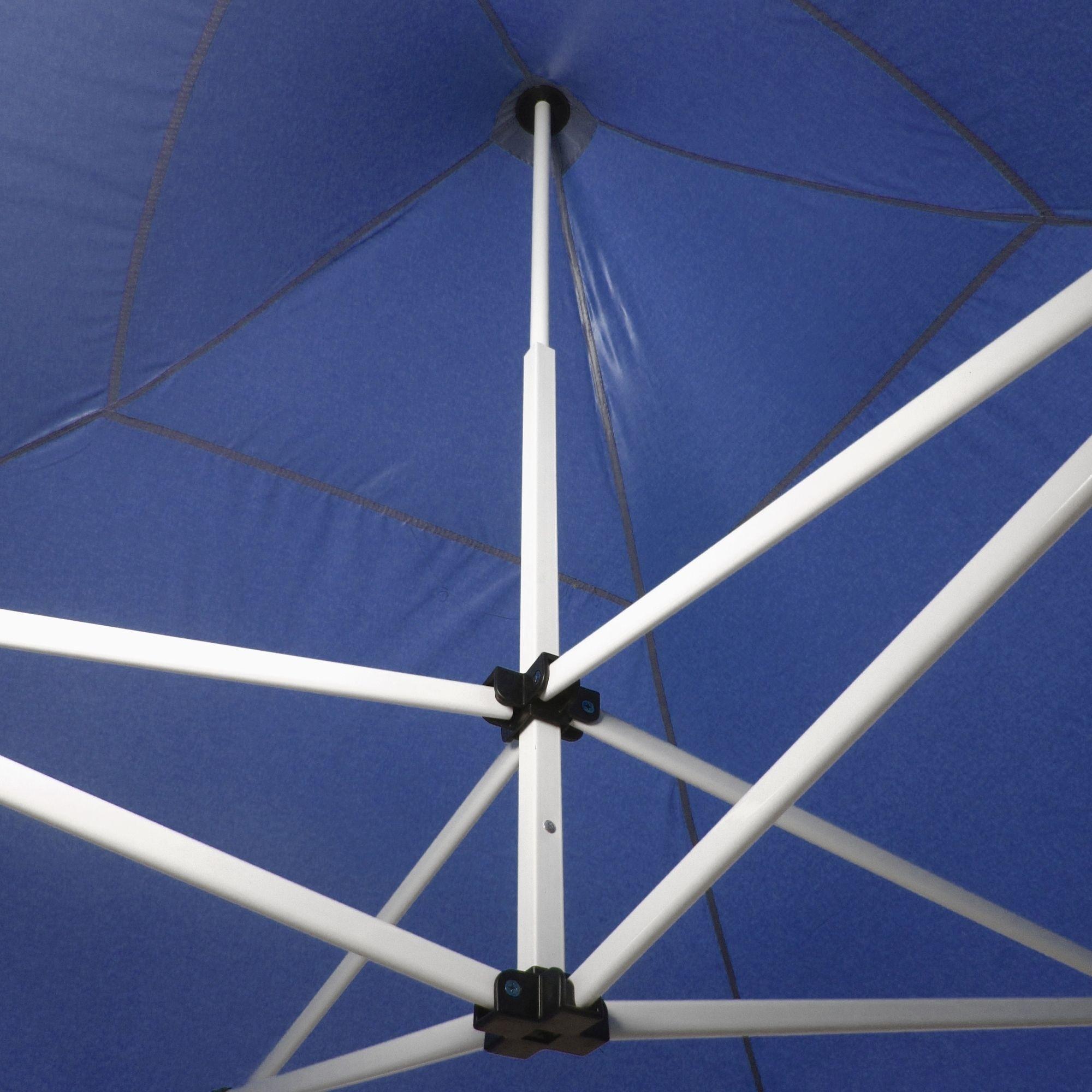 JOM Tente de réception PRO pliante 3 x 3 m, toile Oxford 420D, enduit PVC  coté intérieur, 4X parois laterales, 3 fenêtres, polyéthylène: PE 230g/m²,  ...