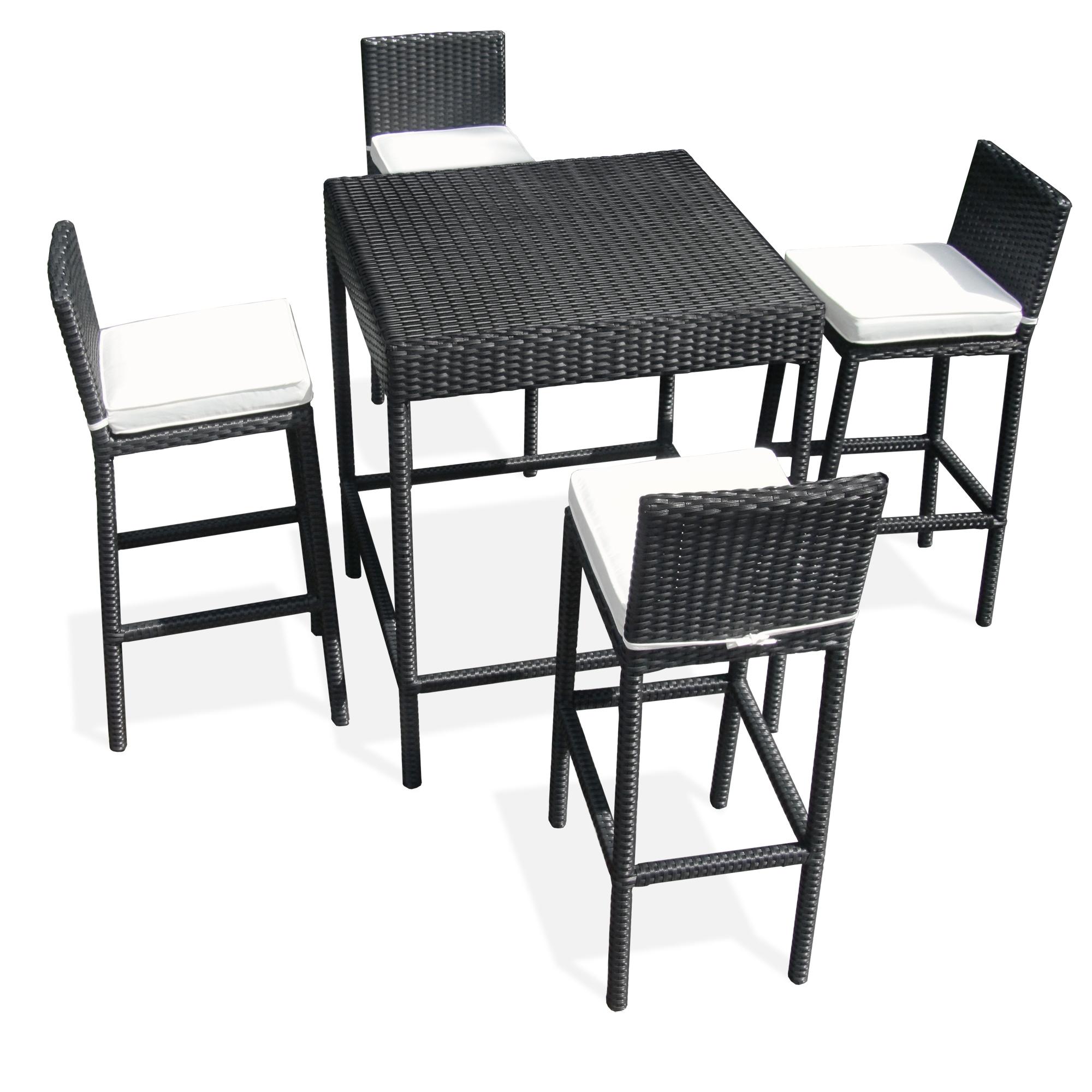 Table haute et tabouret de jardin des id es int ressantes pour la conception de Table haute jardin design