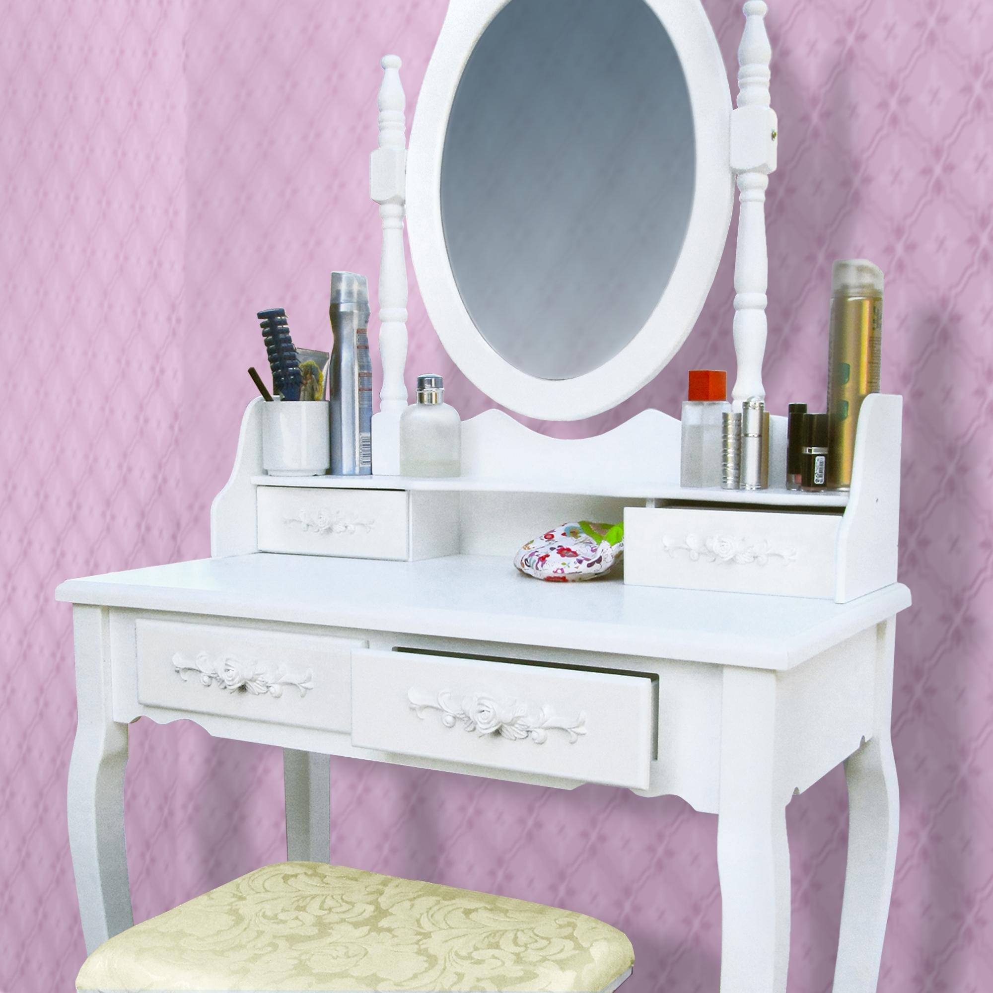schminktisch frisierkommode frisiertisch kosmetiktisch mit spiegel und. Black Bedroom Furniture Sets. Home Design Ideas