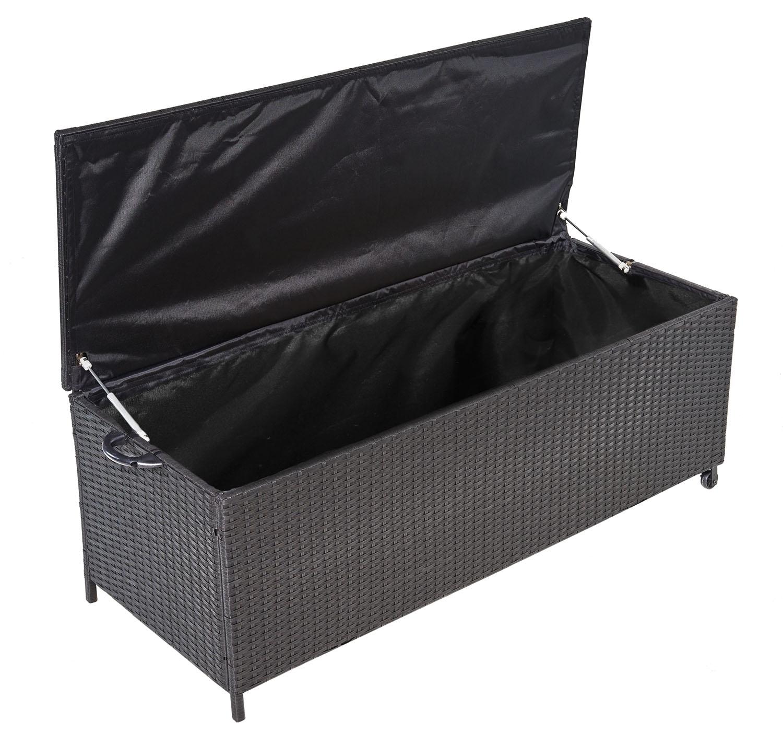 Favorit Auflagenbox Alu Rattan Universal 150x58x50 cm Gartenbox Kissenbox EO94