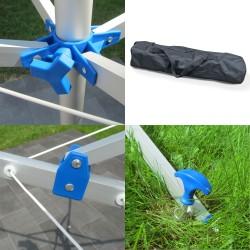 Wäschespinne 4 armig Freistehend mit Füßen, Wäsche Ständer für Balkon oder Camping aus Aluminium 2KG leicht