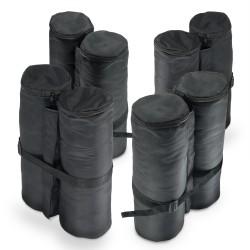 Pavillon Gewichte, 4er Set, schwarz zum Befüllen mit Sand (jeweils ca.24 Kg) aus 180g Polyester mit PA Beschichtung, 14x42 cm für Bierzelt, Partyzelt, Gartenpavillon