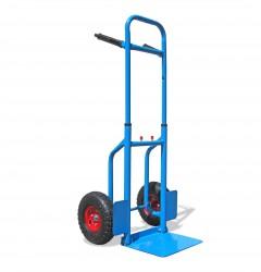 Profi-Sackkarre Stapelkarre, ausziehbar und mit klappbarer Schaufel bis 150kg Tragkraft, 113 x 49,5 x 53 cm, blau