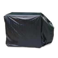 Grillabdeckung, 145 x 65 x 115 cm, Gasgrill, Grill, Smoker, BBQ Abdeckhaube, Haube, Schutzhülle schwarz mit  Klettverschluß rechts/ links unten