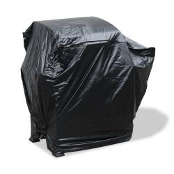 Grillabdeckung, 110 x 65 x 100 cm, Gasgrill, Grill, Smoker, BBQ Abdeckhaube, Haube, Schutzhülle schwarz mit  Klettverschluß rechts/ links unten