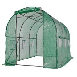 Gewächshaus 6m² Foliengewächshaus Treibhaus Tomatenhaus Pflanzhaus Frühbeet