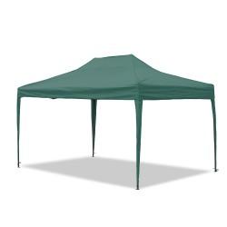 Gartenpavillon, wasserdicht, 3 x 4,5 m, Falt-Pavillon Mallorca, Material Oxford 420D innen beschichtet, grün