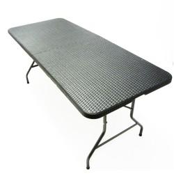 Klapptisch, Falttisch, Gartentisch, Campingtisch,Partytisch,Buffettisch, faltbarer Tisch, Koffertisch 180 x 75 x 74 cm,  Rattan-Optik mit Tragegriff