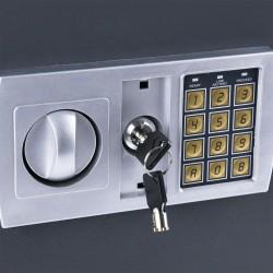 Safe Möbeltresor Tresor Wandtresor Wandsafe  Dokumententresor mit Elektonik- Zahlenschloss 31x20x20 cm LED Anzeige Stahlbolzen
