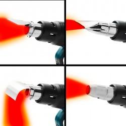Profi Heißluftpistole Heissluftgebläse Heißluftfön Mehrzweck-Maschine 50 - 650°c Betriebstemperatur LCD-Digitalanzeige inkl. Koffer und Zubehör 2000 Watt