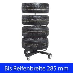 Felgenbaum Felgenständer fahrbar XL incl.Reifenschutzhülle, bis 285 mm Reifenbreite