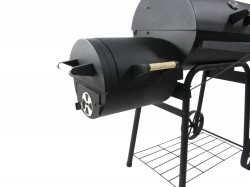 Holzkohlegrill BBQ Smoker 32 KG Grillwagen Räuchergrill Räucherofen 122 x 133 x 66 cm