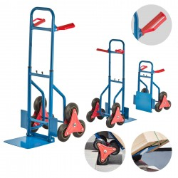 Treppensackkarre/ Treppensteiger, Material: Stahl, Treppenkarre, Sackkarre Verstellbar, Max. Belastbarkeit 200 kg